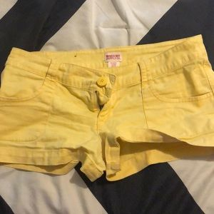 Yellow mossimo supply co. shorts.